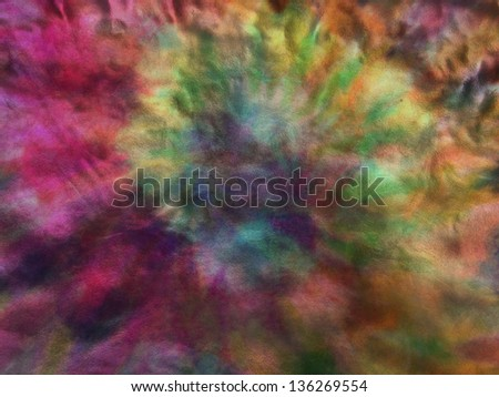 Tie dye metallic rainbow paper texture background - stock photo