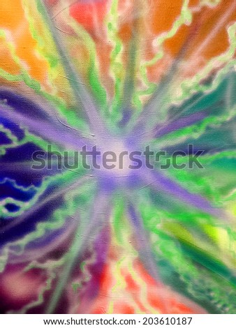 tie dye star abstract design in vivid colors