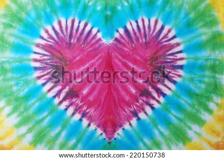 tie dyed fabric for background.  - stock photo