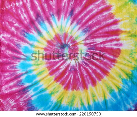 tie dyed fabric for background.