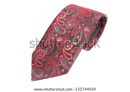 tie isolated under the white background - stock photo