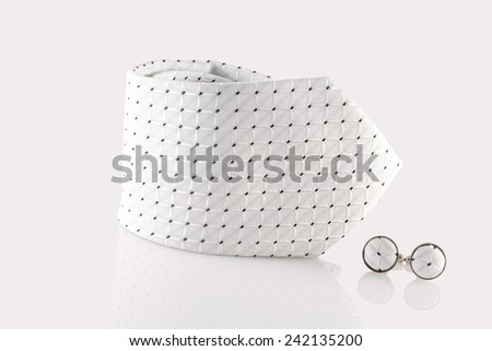 tie with cuff links - stock photo