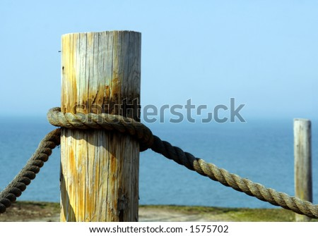 Tied up and docked, evidently. - stock photo