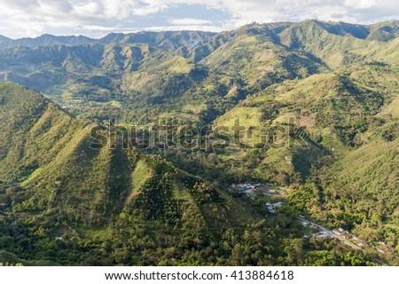 Tierradentro valley in Cauca region of Colombia - stock photo
