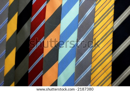 ties in the market - stock photo