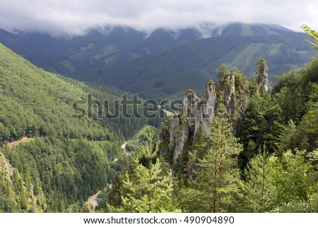 Tiesnavy, Little Fatra, the beautiful Mountains  in Slovakia