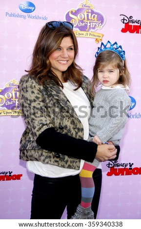 "Tiffani Thiessen at the Los Angeles premiere of ""Sofia the First: Once Upon a Princess"" held at the Disney Studios in Los Angeles, United States on November 10, 2012."