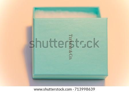 Tiffany Co Jewelry Box Company Name Stock Photo 713998639 Shutterstock