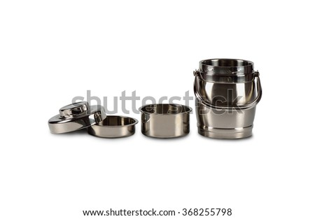 tiffin carrier on white background