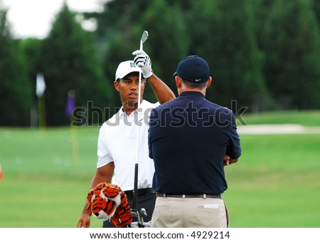 Tiger and Stevie - stock photo