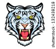 Tiger anger. This is illustration ideal for a mascot and tattoo or T-shirt graphic. Raster version, vector file also included in the portfolio. - stock photo