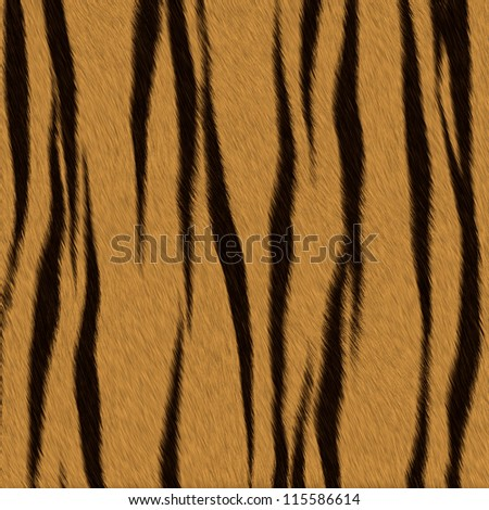 Tiger fur (skin) background or texture - stock photo