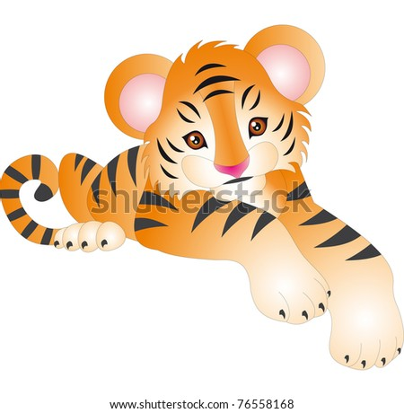 Tiger Illustration - stock photo