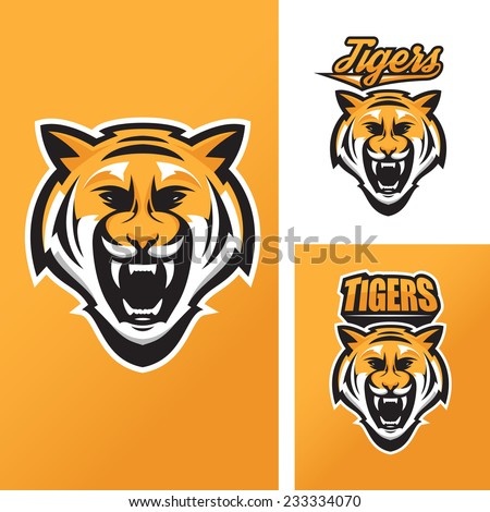 Tiger mascot for sport teams - stock photo