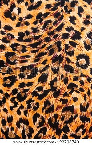 tiger pattern - fabric - stock photo