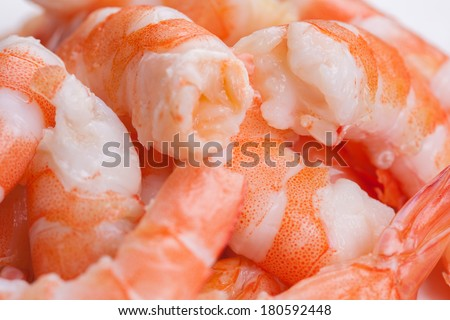 tiger shrimps on white background