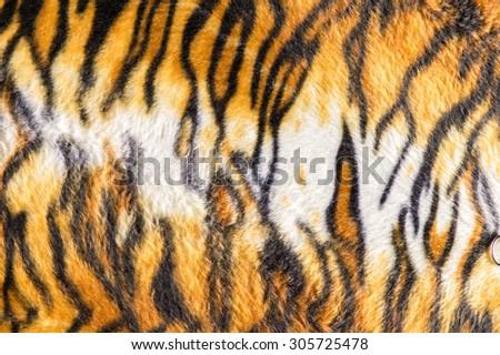 Tiger texture fur background - stock photo