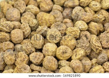 Tigernuts closeup - stock photo