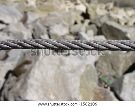 Tight steel cable