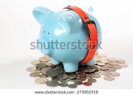 Tighten Your Belt. Time to start saving and tighten your belt. - stock photo