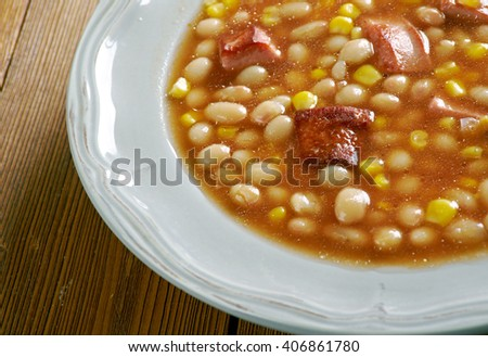 Tihove - Stew of corn beans and peanut butter.African cuisine