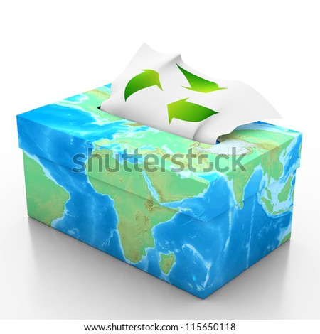 Tiissue box isolated on white background 3d illustrator