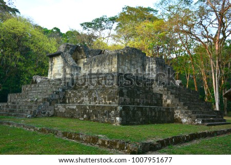 TIKAL , GUATEMALA may 03 2016 : The archaeological site of the pre-Columbian Maya civilization in Tikal National Park , Guatemala The park is UNESCO World Heritage Site since 1979
