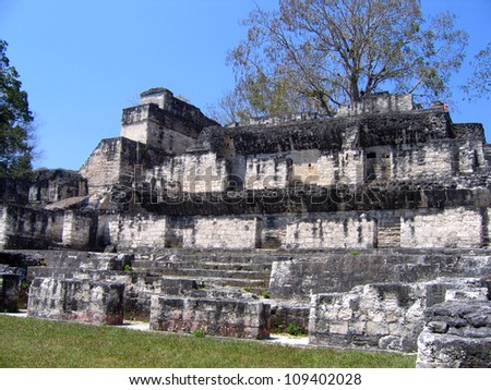 Tikal, Mayan ruins in Guatemala - stock photo