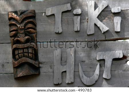 Tiki Sign - stock photo