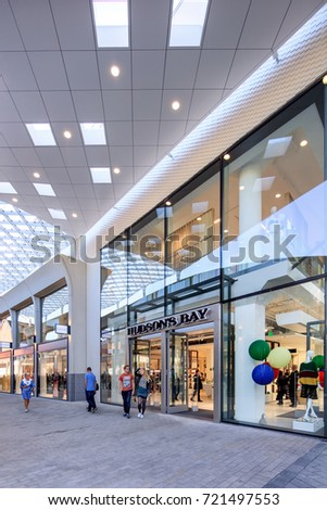 TILBURG-SEPTEMBER 23, 2017. New Hudsons Bay shopping mall. Hudson's Bay wants to be a premium department store in the Netherlands. Eventually they planned to open twenty stores in The Netherlands.
