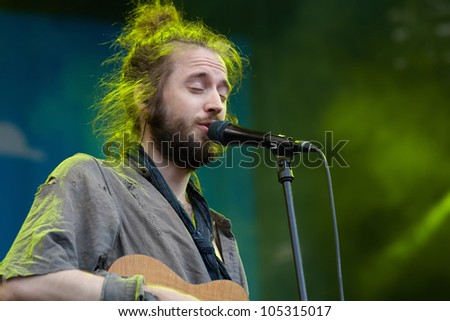 TILBURG, THE NETHERLANDS - JUNE 16:The Crystal Fighters playing on the first day of the two-day Festival Mundial on June 16, 2012 in Tilburg