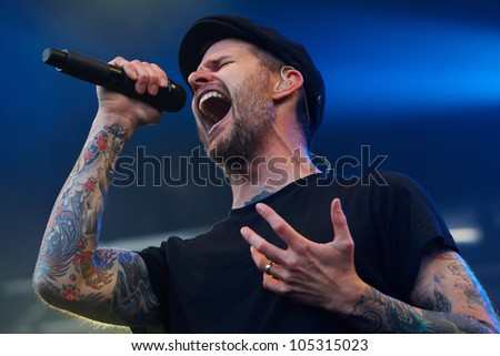 TILBURG, THE NETHERLANDS - JUNE 16:The Dropkick Murphys playing on the first day of the two-day Festival Mundial on June 16, 2012 in Tilburg
