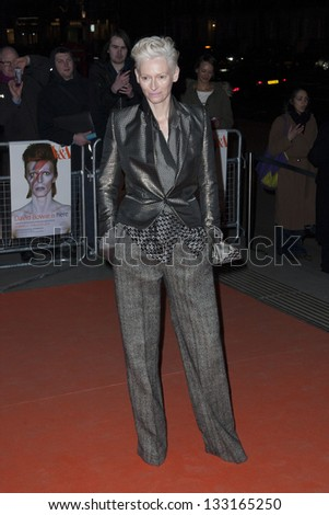 Tilda Swinton arriving for the David Bowie Is private view held at the V&A, London. 20/03/2013 Picture by: Simon Burchell - stock photo