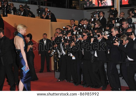"Tilda Swinton at the premiere of her new movie ""We Need To Talk About Kevin"" in competition at the 64th Festival de Cannes. May 12, 2011  Cannes, France Picture: Paul Smith / Featureflash"