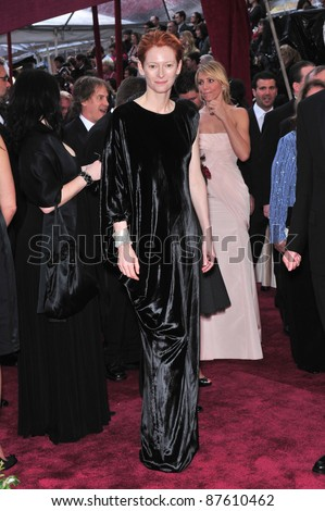 Tilda Swinton at the 80th Annual Academy Awards at the Kodak Theatre, Hollywood, CA. February 24, 2008 Los Angeles, CA Picture: Paul Smith / Featureflash