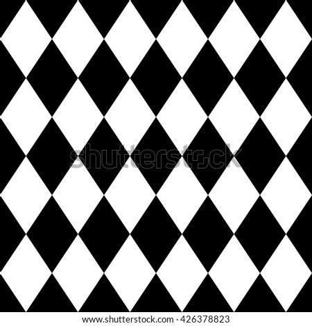 Tile black and white background or pattern