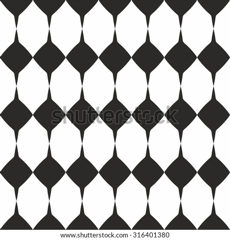 Tile black and white pattern or website background - stock photo