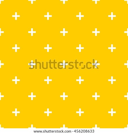 Tile cross plus yellow and white pattern