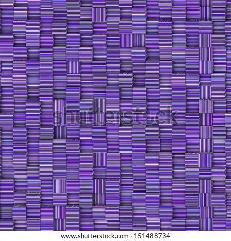 tile mosaic pattern backdrop in striped purple blue - stock photo