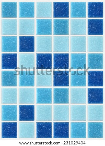 tile mosaic square blue texture background decorated with glitter  - stock photo