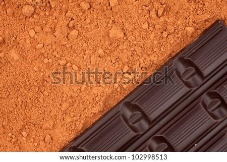 tile of chocolate for cocoa background
