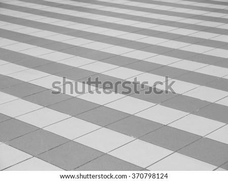 tile on floor pattern - stock photo