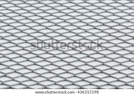 tile on the roof,Colonial style - stock photo