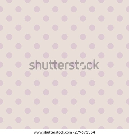 Tile pastel pattern with violet polka dots for background wallpaper - stock photo