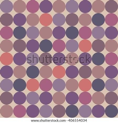 Tile pattern with polka dots on pastel background