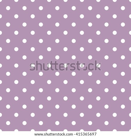 Tile pattern with white polka dots on dark violet background