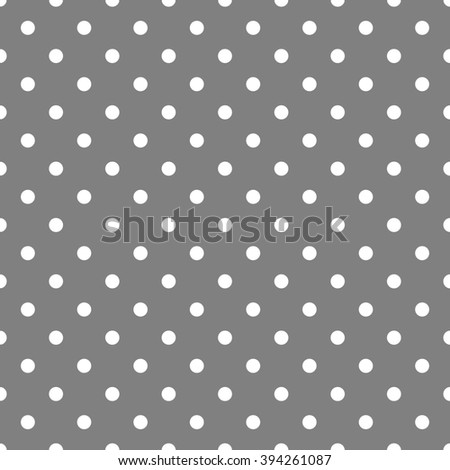Tile pattern with white polka dots on grey background
