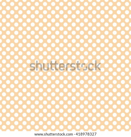 Tile pattern with white polka dots on pastel coral background
