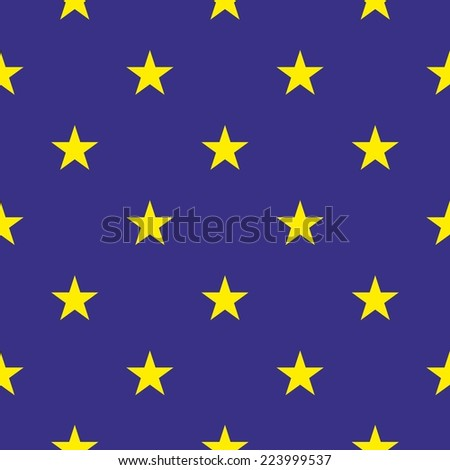 Tile pattern with yellow stars on dark blue background