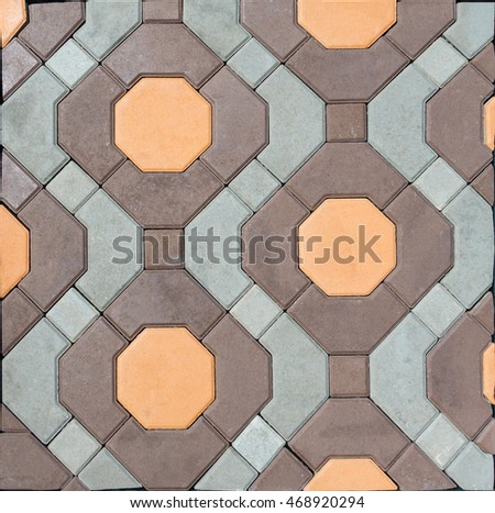 tile  paving slabs and mosaic colored of small stones texture abstract background